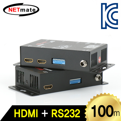 NETmate HDMI-ENW HDMI+RS232 1:1 리피터(로컬 + 리모트)(Ethernet Base 100m)