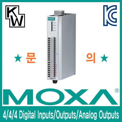 MOXA(모싸) ioLogik E1242 원격 I/O 제어기(4 Digital Inputs, 4 Digital Outputs, 4 Analog Outputs)