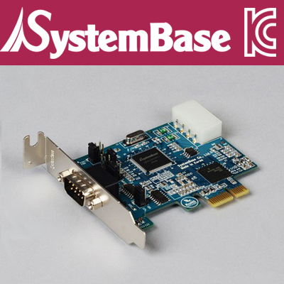 SystemBase(시스템베이스) 1포트 RS-422/485 PCI Express 시리얼 카드