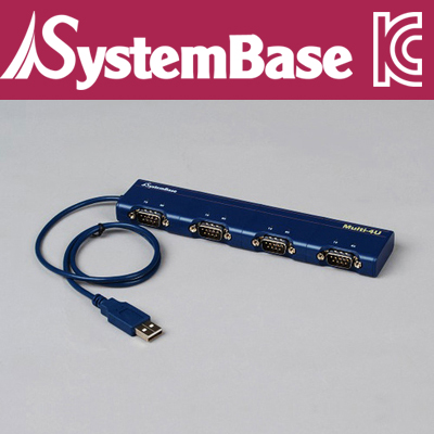 SystemBase(시스템베이스) 4포트 USB 시리얼통신 어댑터, RS422/RS485 컨버터 Multi-4/USB COMBO (V4.0)
