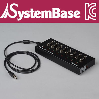 SystemBase(시스템베이스) 8포트 USB 시리얼통신 어댑터, RS422/RS485 컨버터 Male