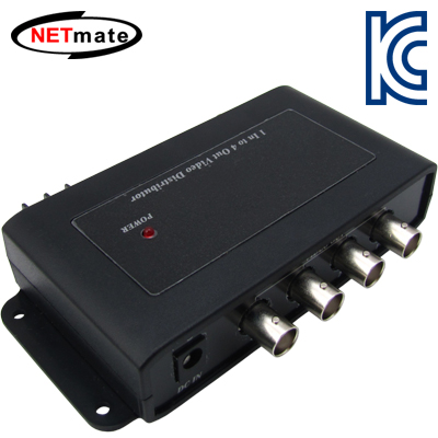 NETmate NM-CD104 BNC 1:4 영상 분배기