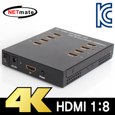NETmate NM-HSP8 4K 지원 HDMI 1:8 분배기
