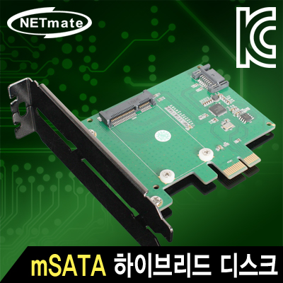NETmate NM-SSP1 Mini SATA SSD 하이브리드 디스크 PCI Express 카드(Asmedia)