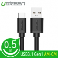 Ugreen U-20881 USB 3.1 Gen1(3.0) AM-CM 케이블 0.5m(블랙)