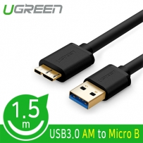 Ugreen U-10842 USB3.0 AM-Micro B 케이블 1.5m (블랙)