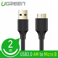 Ugreen U-10843 USB3.0 AM-Micro B 케이블 2m (블랙)