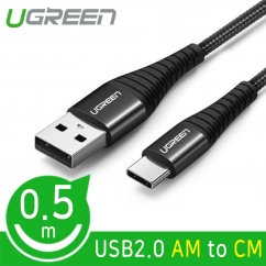 Ugreen U-70560 USB2.0 AM-CM 패브릭 케이블 0.5m