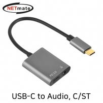 NETmate NM-TCS02 USB-C to Audio(3.5mm) + PD 컨버터(이어폰 듀얼젠더)
