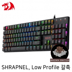 Redragon SHRAPNEL K589RGB Low Profile RGB 게이밍 키보드 (갈축)